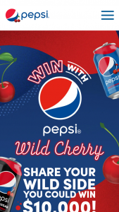 "Pepsi – Wild Cherry Wild Side Contest – Instagram – Win Grand Prize will be awarded consisting of 10000.00 check (""Grand Prize"")."