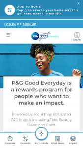 P&g Good Everyday Rewards Sweepstakes