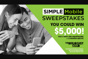 Premiere Networks – The Breakfast Club's Simple Mobile Sweepstakes