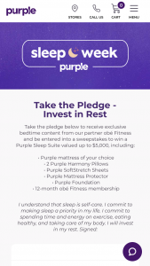 Purple Innovation – Take The Pledge Invest In Rest Sweepstakes