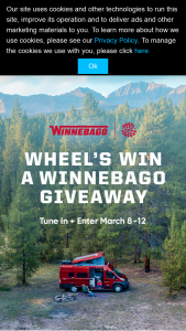 Quadra Productions – Wheel's Win A Winnebago Giveaway – Win of a 2021 Winnebago Solis