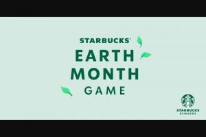 Starbucks – Earth Month Game – Win win a yearwin game winwin game prizes