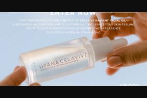 """Usana – Celavive Radiant Facial Oil – Win one (1) 1 fl oz bottle of USANA Celavive Radiant Facial Oil (""""Prize"""")."""