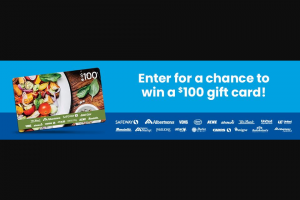 """Valpak – $100 Gift Card – Win a $100 Albertsons gift card (""""Grand Prize"""")."""