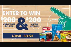 Weis Markets – General Mills And Weis Markets March Madness Giveaway Sweepstakes