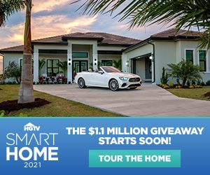 HGTV – Smart Home 2021 – Win a $1.1 Million home