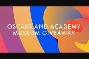 Academy Of Motion Picture Arts And Sciences – 93rd Oscars And The Academy Museum Of Motion Pictures Giveaway – Win total) A Sponsor-specified Academy prize pack