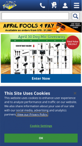 American Musical Supply – April 30 Day Microphone Giveaway Sweepstakes