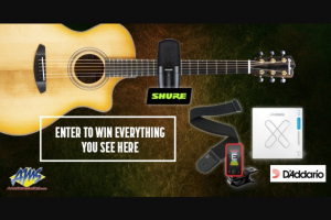 American Musical Supply – Breedlove Giveaway With Shure & D'addario Sweepstakes