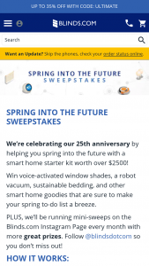 Blindscom – Spring Into The Future Sweepstakes