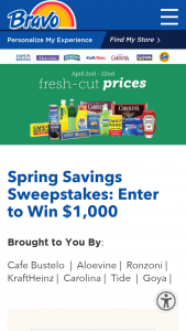 Bravo Supermarkets – Spring Savings – Win card