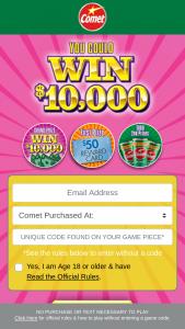 Comet Kik Custom Products – You Could Win $10000 Game – Win VISA Prepaid card code