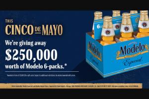 Crown Imports – Modelo Cinco De Mayo $10 Gift Card Sweepstakes