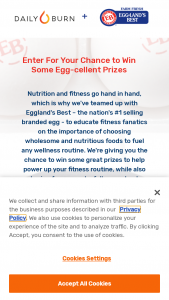 Daily Burn – Eggland's Best Sweepstakes