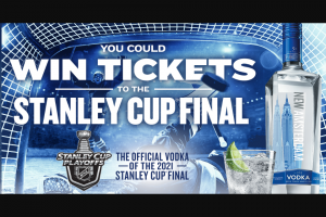 E & J Gallo Winery – New Amsterdam Vodka NHL Stanley Cup Final – Win a trip for winner and 1 guest (all age 21 or older) to Game 1 of the Stanley Cup Final