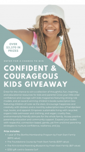 Fresh Start Family – Confident & Courageous Kids Giveaway – Win difference between actual and approximate retail value