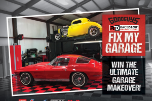 Goodguys – Racedeck Fix My Garage Contest – Win the following prizes 1 Winners will receive one RaceDeck Garage Flooring Package that includes 400 square feet of flooring in either