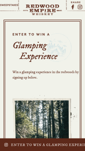 "Graton Spirits – Purple Spirits Glamping With Redwood Empire – Win a trip to Northern California including three nights ""Glamping"" accommodations"