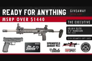 Gunwinner – Ready For Anything Giveaway – Win (1) Springfield Armory XD-M® Elite 4.5″ Handgun