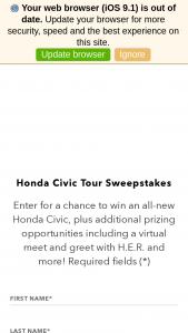 Honda – Civic Tour – Win win the grand