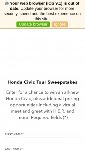 Honda – Civic Tour – Win win year awardedwin the grand