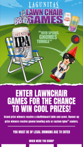 Lagunitas Brewing – Lawn Chair Games – Win a shuffle board table and cover