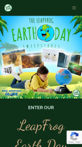 Leapfrog – Earth Day – Win one (1) $500 Walmart Gift Card and one (1) Magic Adventures Globe