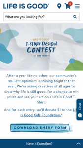 Life Is Good – T-Shirt Design Contest Sweepstakes