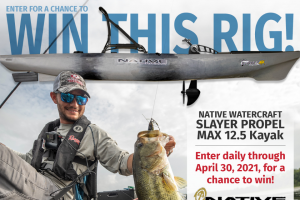 Major League Fishing – Native Watercraft Slayer Propel Max 12.5 Fishing Kayak Giveaway – Win Native Watercraft Slayer Propel Max 12.5 Fishing Kayak (approximate retail value $2599.00 USD).