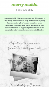 Merry Maids – Mother's Day Giveaway – Win ONE $500 MERRY MAIDS SERVICES GIFT CERTIFICATE AND ONE $500 GIFT CARD TO THE CONTAINER STORE ARV $1000.00.