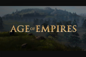 Microsoft – Age Of Empires Sweepstakes