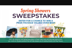 Miles Kimball – Spring Showers Sweepstakes