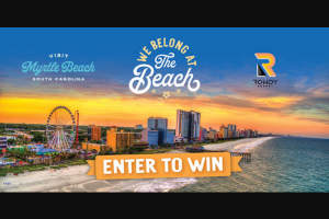 Myrtle Beach Area Convention & Visitors Bureau – Camping World/gander Outdoor Rowdy Energy Vacation Giveaway Sweepstakes