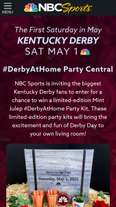 NBC Sports – Derby At Home – Win one Daily Prize
