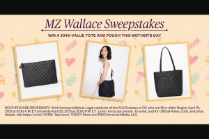 Nbcuniversal Media – Today Mother's Day Plaza And Mz Wallace – Win to each Winner