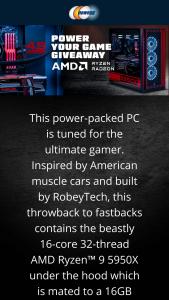 NEWEGG – Amd Power Your Game Giveaway – Win One (1) Custom AMD Ryzen 9 5950X PC Build (ARV $4080.89) One (1) Corsair K95 RGB PLATINUM Mechanical Gaming Keyboard