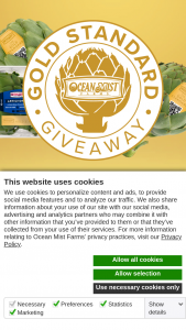 Ocean Mist Farms – Gold Standard Giveaway Sweepstakes