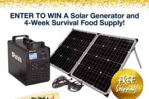 4patriots – Solar Power Generator – Win includes 1 Patriot Power Generator 1800 1 4-Week Survival Food Kit 1 Extension Cord and complimentary shipping