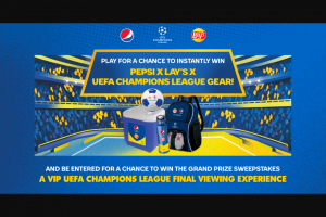 Pepsi – Lay's Uefa Champions League Sweepstakes