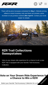 Polaris – 2021 Polaris Rzr Trail Collections – Win RZR Trail S 1000 Ultimate with accessory package of their choice