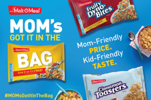 "Post Consumer Brands – Malt-O-Meal #momsgotitinthebag Contest – Social Media – Win the following Grand Prize A VISA gift card worth $150.00 ten ""Free Cereal"" coupons for bags of Malt-O-Meal cereals"