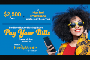 Premiere Networks – The Steve Harvey Morning Show's Pay Your Bills Sweepstakes