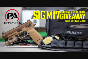 Primary Arms – M17 American Service Pistol Giveaway Sweepstakes