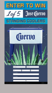 Proximo Spirits Jose Cuervo – Tequila Standing Coolers – Win be entitled to pick up one Jose Cuervo standing cooler from Administrator at 78 Regional Drive Concord NH 03301.
