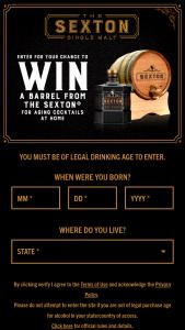 Proximo Spirits – Sexton Barrel – Win of one The Sexton Barrel