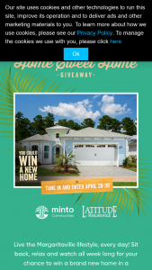 Quadra Productions – Wheel Of Fortune Home Sweet Home Giveaway Iii – Win one (1) home located in a Latitude Margaritaville Community in either Daytona Beach