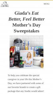 Random House – Eat Better Feel Better – Win Vitamix Explorian® Series E310   Le Creuset 5 ½ Qt Round Dutch Oven   Jane Win Jewelry Original Coin Necklace   Assortment of pantry items from Giadzy 2 boxes of gluten-free pasta