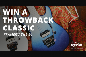 "Revolver – Kramer Guitars The 84 Guitar Giveaway – Win one (1) ""The 84"" guitar from Kramer and one (1) one-year subscription to Revolver Magazine"