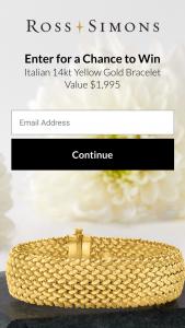 Ross-Simons – 2021 Italian Bracelet Giveaway – Win 14kt Yellow Gold Wide Riso-Link Bracelet – item # 876191.
