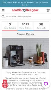 Seattle Coffee Gear – Saeco Xelsis – Win a Premium Superautomatic Espresso Machine with the Saeco Xelsis